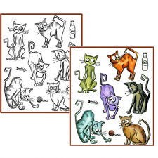 Crazy Cats Cling Stamps OR Framelits Dies CMS251 SXTH661209 - Choice