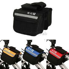 MTB Bike Bicycle Cycling Frame Front Top Tube Pannier Saddle Bag Tube Pouch Case