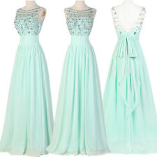2016 Bridesmaid Sexy Long Graduation Ball Gown Formal Evening Party Prom Dresses