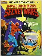 1984 MARVEL SUPER HEROES Secret Of Spider-Man's Shield SECRET WARS STICKER BOOK