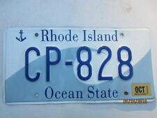 RI Ocean State Auto License Plate, The Wave