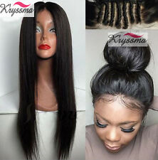 Glueless Full Lace Wig Silky Straight 100 Indian Remy Human Hair Front Lace Wigs