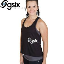 Ladies  GSIX Gymwear Activewear Layer It Singlet Size M, L, XL