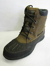 MENS LEATHER WATERPROOF LACE UP FASTENING BOOTS (SEBAGO WELLS RIVERBANK B17103