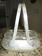 Vintage Rialto White Pearlized Lucite Purse
