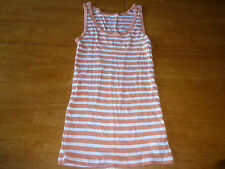NWOT Gap Size S Coral and White Striped Tank Top