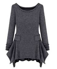 Womens Fashion Sweater Knitted Scoop Neck Long Sleeve Casual Dress