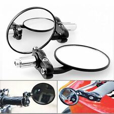 """Lot 1Pair Motorcycle Round 7/8"""" Handle Bar End Foldable Rear View Side Mirror LO"""