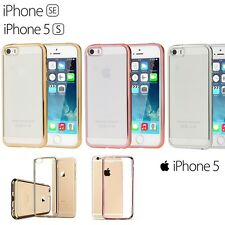 Ultra Thin Clear Premium Case Cover with Electroplated Bumper for Apple iPhone
