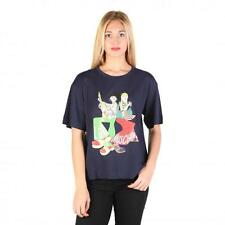 Love Moschino Clothing Women T-shirts Blue 74773 Outlet BDX