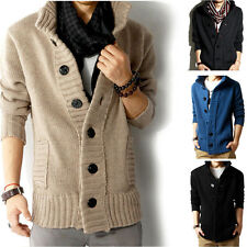 New Men's Stylish Casual Long Sleeve Knitwear Cardigan Slim Coat Jacket Sweaters