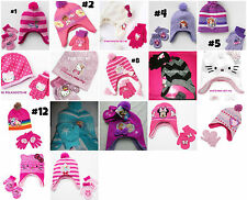 *NEW GIRLS Disney HELLO KITTY Pony Mcstuffin Sofia Princess HAT & GLOVES SET