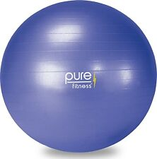 Pure Fitness Anti-Burst Core Exercise Stability Ball with Hand Pump 65 cm... New