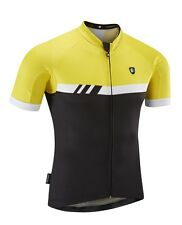 Conquest Cycle Wear Men's Core GT Short Sleeve Cycling Jersey - Yellow