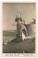 Burgh Island, Devon. Lady of the Lamp. Real Photo Postcard dated 1947