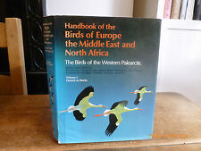 HANDBOOK OF THE BIRDS OF EUROPE, THE MIDDLE EAST AND NORTH AFRICA VOL 1 Hbk Dj