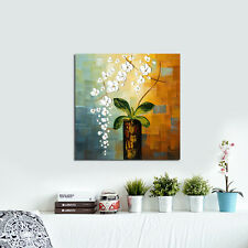 Framed Modern Original Canvas Oil Painting Home Decor Wall Art Flowers Landscape