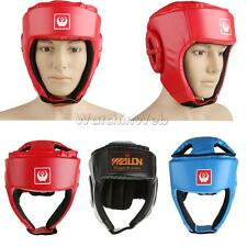 Thick Padded Head Guard Helmet Boxing MMA Martial Arts Headgear Protector