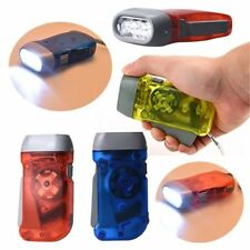 3 LED Dynamo Wind up Flashlight NR Torch Light Camping 3 color SY