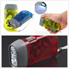 Wind-Up Hand Press Crank Emergency Camping LED Flashlight Torch Outdoor Lamp UE