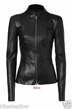 New Original Wash And Wax Slim Fit Soft Lambskin Leather Jacket For Women W- 27