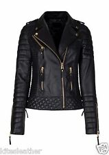 New Designer Leather Coat Quilted Soft Lambskin Jacket For Stylish Women W- 32