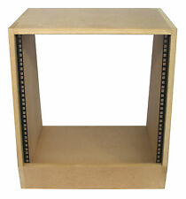 "10u angled 19"" inch wooden rack unit/case/cabinet for studio/DJ/recording/audio"