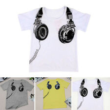 Cute Summer Child Kids Boy Casual T shirt Short Sleeve Casual Tops Blouse 2-7Y