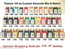 Testors Custom Enamel 1/4 oz Paint Bottles Mix/Match Variety