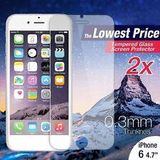 """2Pcs Premium Real Tempered Glass Film Guard Screen Protector for iPhone 6 4.7""""#A"""