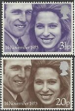 Great Britain 1973 ROYAL WEDDING (2) Unhinged Mint SG 941-2