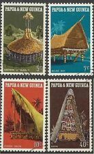 Papua New Guinea 1971 HUTS Set (4) Very Fine Used SG 191-4
