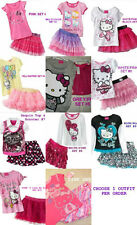 * NWT NEW GIRLS 2PC Hello Kitty SUMMER Skirt OUTFIT SET 2T 3T 4 5 6 6x