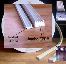 EXTRA THICK EPDM SEAL15 x 8mm FOR LARGE GAPS DOORS WINDOWS DRAUGHT EXCLUDER