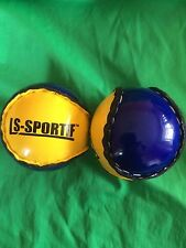 2 hurley camoige hurling balls sliotars blue/yellow Tipperary club gaa sliotar