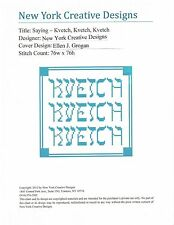 HP Needlepoint Canvas OR Pattern, Charted Design Saying Kvetch