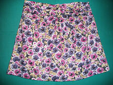 Ladies Size 18 Pink/Gold Mix Floral Cotton Mini Skirt by Atmosphere