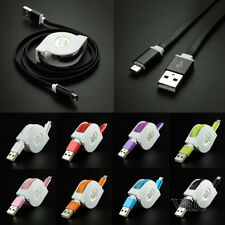 Retractable Pocket Flat Micro USB Data Sync Charging Cable Cord For Mobile Phone