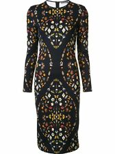 Alexander Mcqueen Black 'Obsession' Print Dress (Authentic & New) Size 40,42