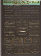 A4 Die Cut & Foiled Banners - Birthday Gold on Black (050-439)