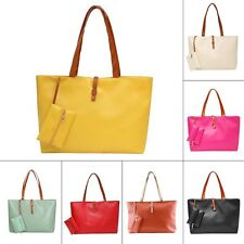 Women PU Leather Tote Shoulder Bags Hobo Handbags Satchel Messenger Purse lot JL