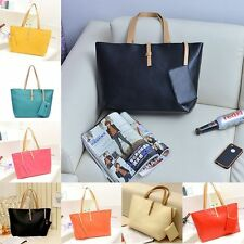 Women PU Leather Tote Shoulder Bags Hobo Handbags Satchel Messenger Purse lot US