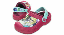 Crocs Disney Frozen Pink Berry Fuzz Lined Clog Kids Toddler & Girl Different Sz