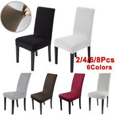 2/4/6/8pcs Stretch Dining Chair Cover Removable Slipcover Washable Dinning Cover