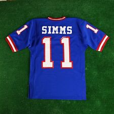 1986 Phil Simms New York Giants Mitchell & Ness Blue Authentic Home Jersey Men's
