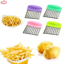 Stainless Steel Potato Chip Dough Vegetable Crinkle Wavy Cutter Blade Knife NEW