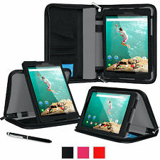 roocase Executive Portfolio Leather Case Cover for Google Nexus 9 Tablet 8.9 in