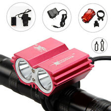 SolarStorm Rechargeable 6000Lm 2x CREE XML U2 LED Bicycle Bike Lamp Head Light