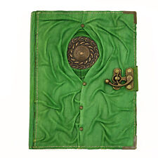 Celtic Green Large Handmade Leather Journal Diary Sketchbook Notebook Paper