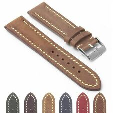 DASSARI Avant Distressed Italian Leather Watch Band Strap for BREITLING